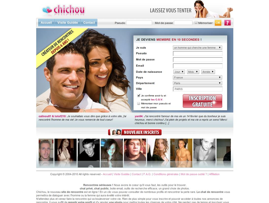 site de rencontre chichou