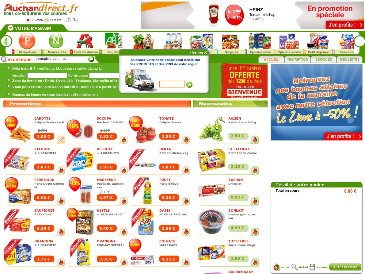 Auchan  Comparison tables - SocialCompare