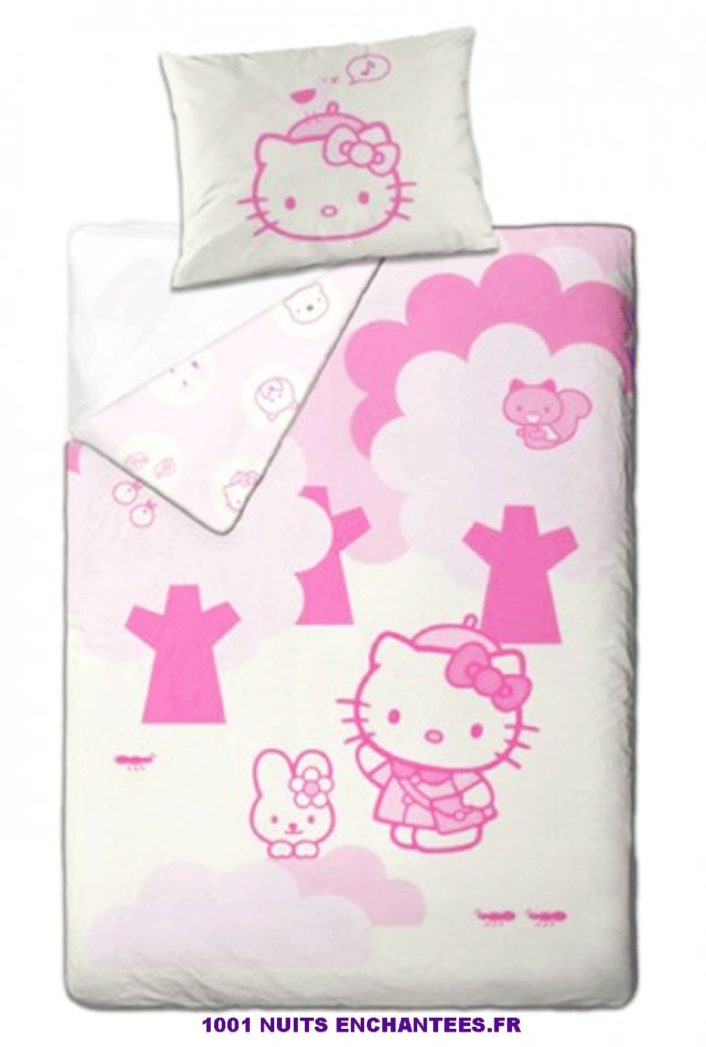 free matire premire coton bio coton bio with housse de couette hello kitty 140x200. Black Bedroom Furniture Sets. Home Design Ideas