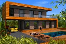 Maison en bois ecologique kit ventana blog - Maison en kit ecologique ...