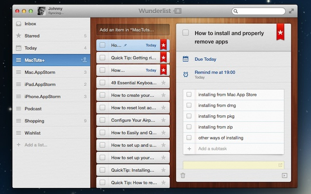 Wunderlist | Comparison tables - SocialCompare