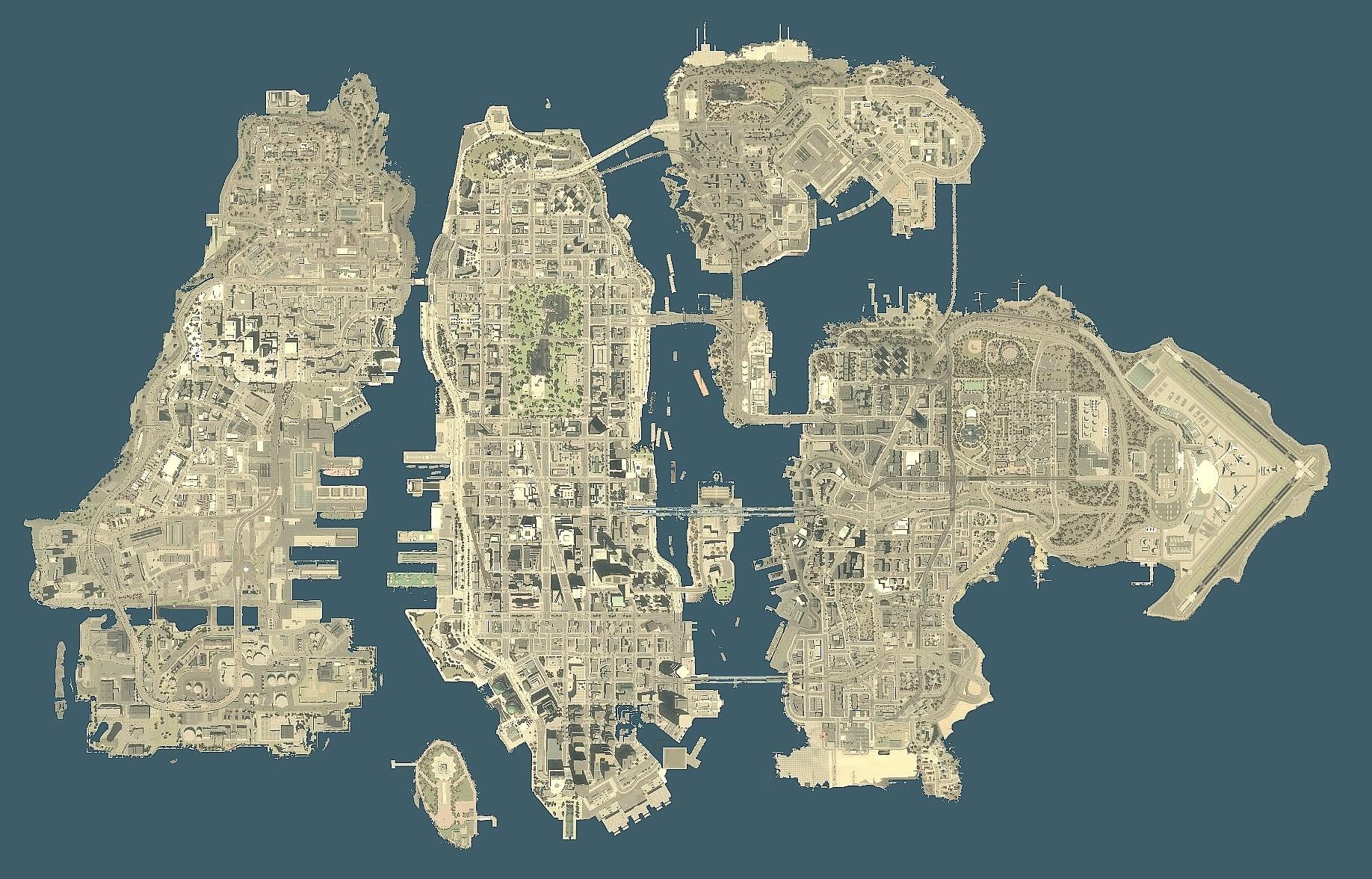 Gta 4 Karte.All Gta Map Size Comparison